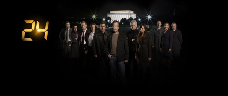 Il cast di 24 in una foto promozionale del Day 7