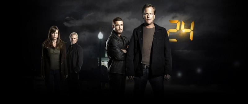 Mary Lynn Rajskub, James Morrison, Carlos Bernard e Kiefer Sutherland in una immagine promozionale della settima stagione di 24