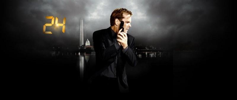 Una immagine promozionale della settima stagione di 24 incentrata sul personaggio di Kiefer Sutherland