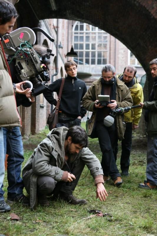 Alberto Amarilla sul set del film horror Imago Mortis
