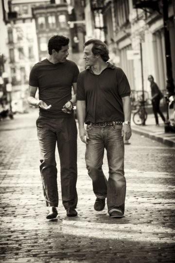 Alessandro Gassman e Gabriele Muccino sul set di 4 Padri Single