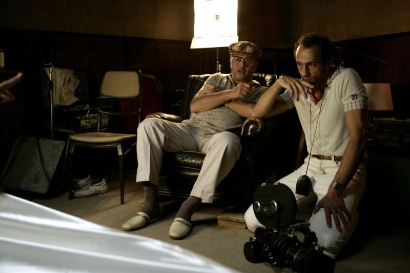 Bebo Storti e Sergio Albelli sul set del film Aspettando il sole