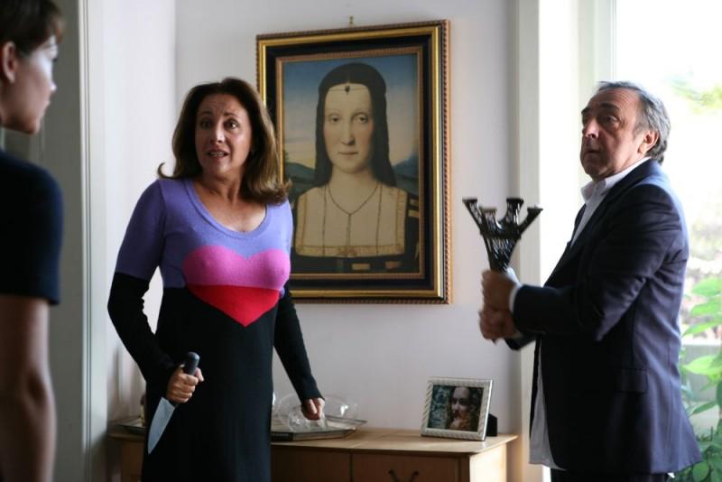 Carla Signoris e Silvio Orlando in una scena del film Ex