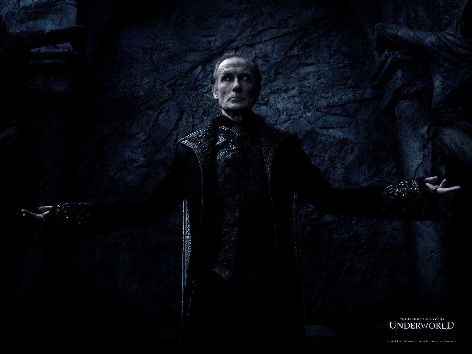 Un wallpaper del film Underworld: La ribellione dei Lycans con Bill Nighy