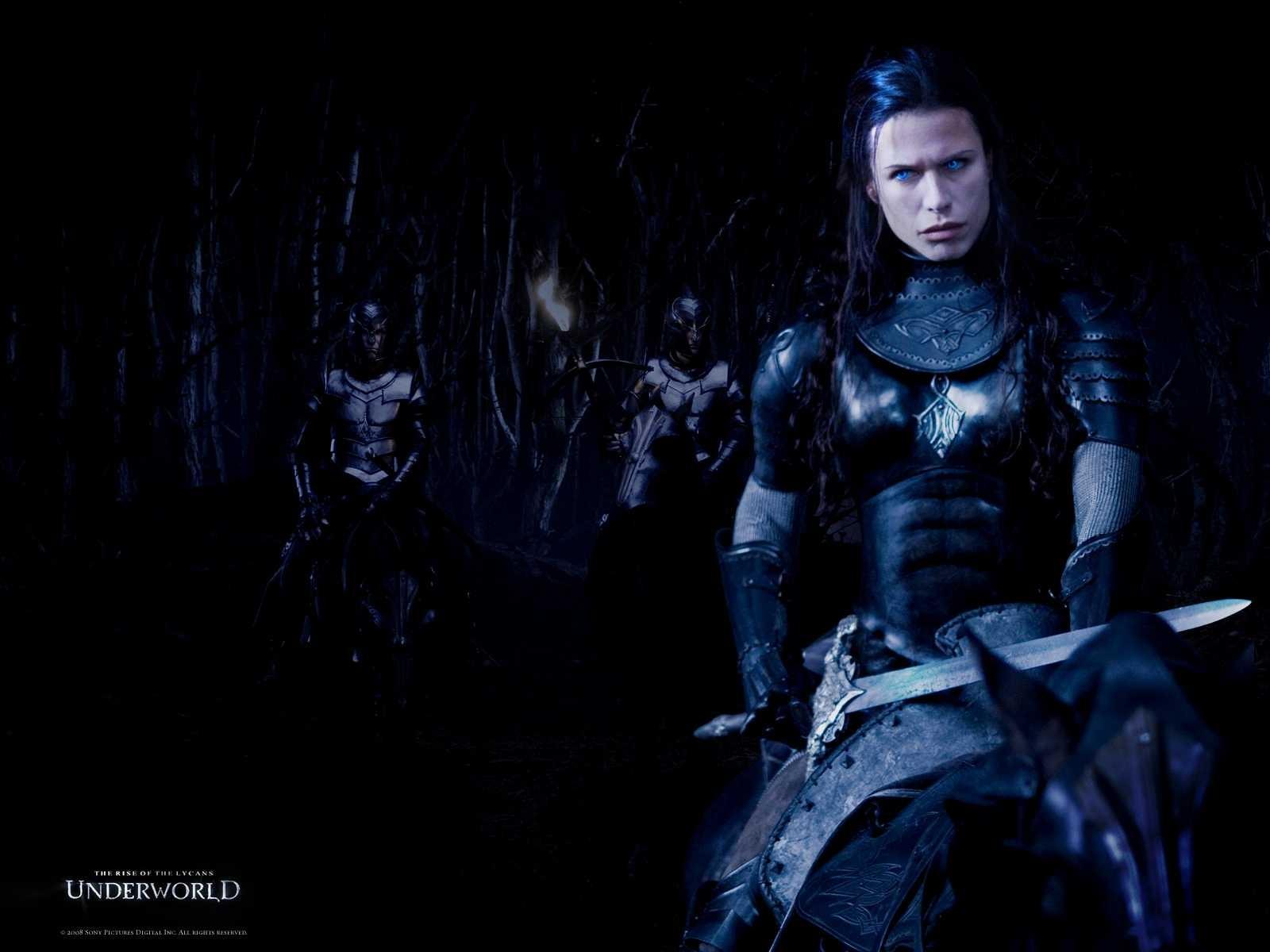 Wallpaper del film Underworld: La ribellione dei Lycans con Rhona Mitra