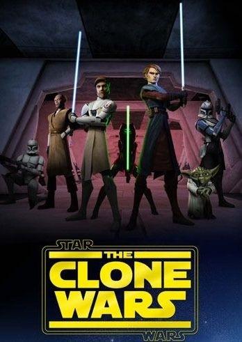 La locandina di Star Wars: le guerre dei Cloni
