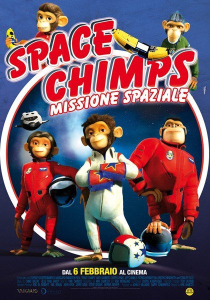La locandina italiana di Space Chimps