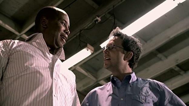 Michael Boatman con George Newbern nell'episodio 'Soul Mates' della serie tv Criminal Minds
