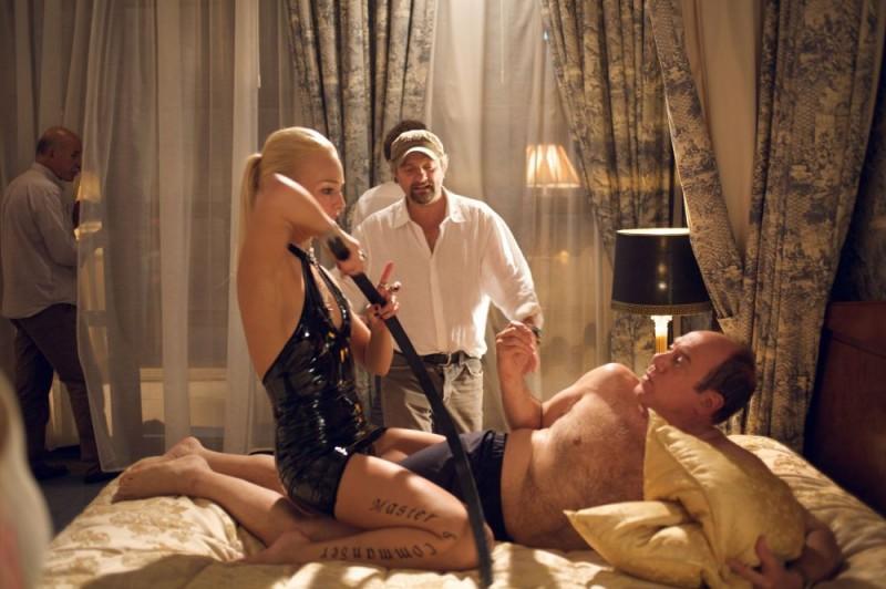 Il regista Giovanni Veronesi e Carlo Verdone sul set del film Italians