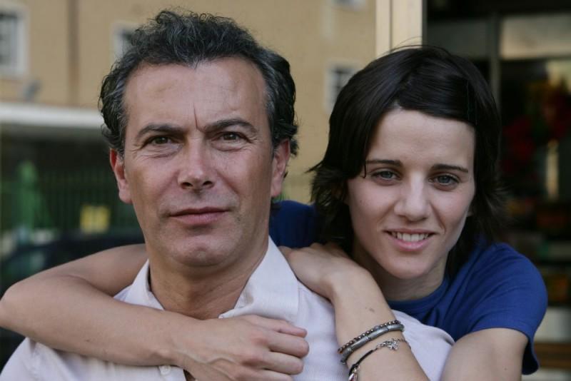 Paolo Sassanelli e Chiara Nicola sul set del film Giulia non esce la sera