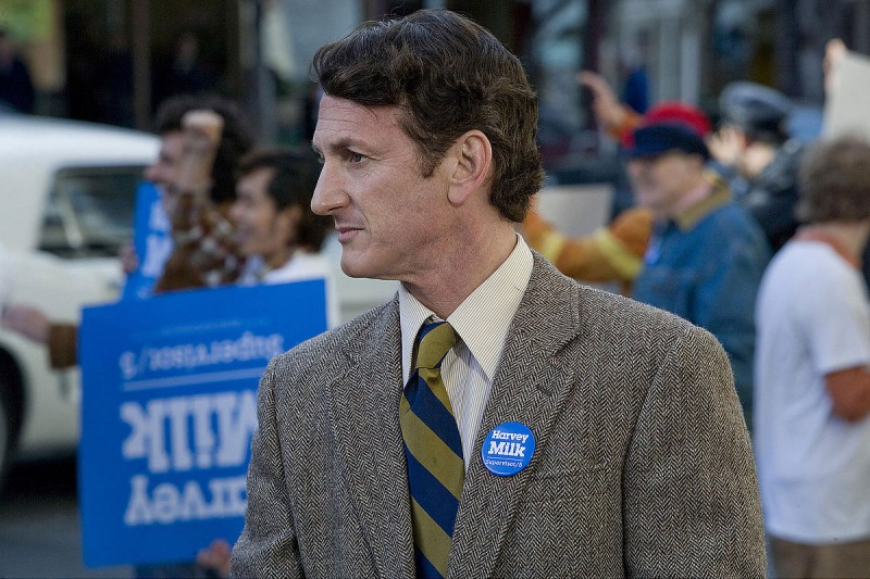 Sean Penn in un'immagine di Milk