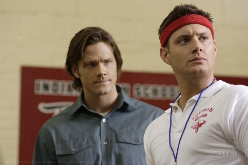 Jensen Ackles e Jared Padalecki in una scena dell'episodio Afterschool Special di Supernatural
