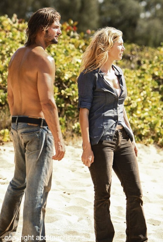 Josh Holloway ed Elizabeth Mitchell nell'episodio The Lie di Lost