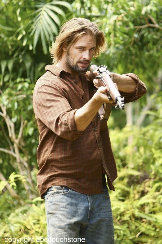Josh Holloway in una scena dell'episodio Jughead di Lost
