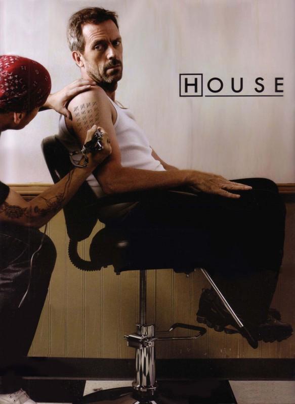 Un poster per il centesimo episodio di Dr House, intitolato The Greater Good