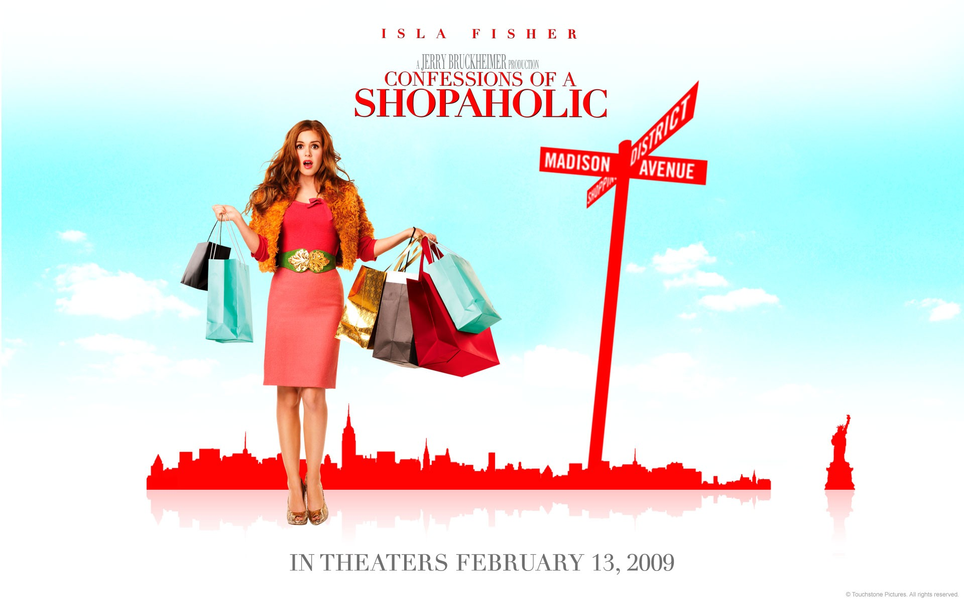 Un wallpaper del film I Love Shopping con Isla Fisher