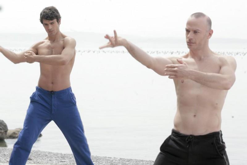Luca Argentero e Filippo Nigro in una sequenza di Diverso da chi?, diretto da Umberto Carteni