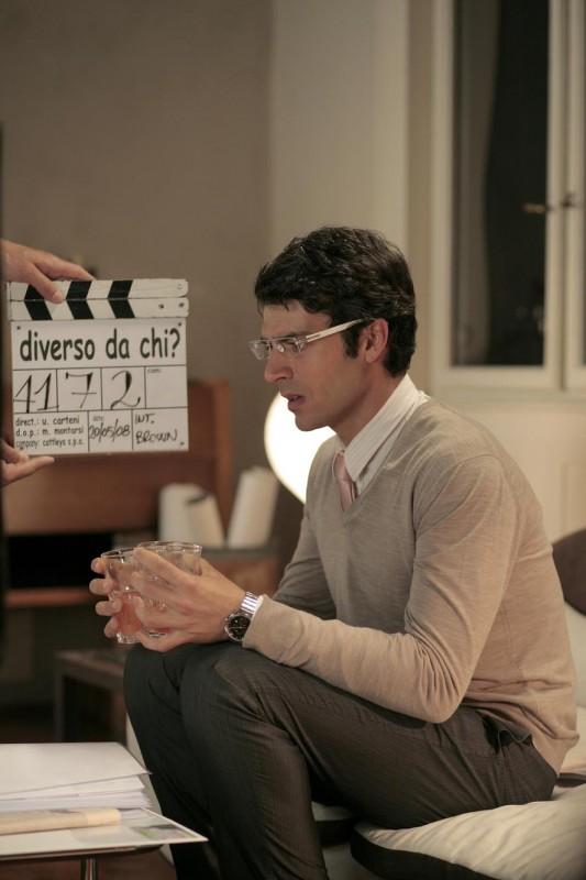Luca Argentero sul set del film Diverso da chi?