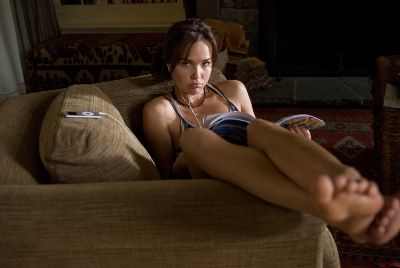 Arielle Kebbel sul set del film The Uninvited