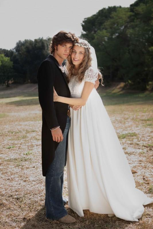 Emanuele Bosi e Maria P. Petruolo in una foto promozionale del film romantico Questo piccolo grande amore, diretto da Riccardo Donna