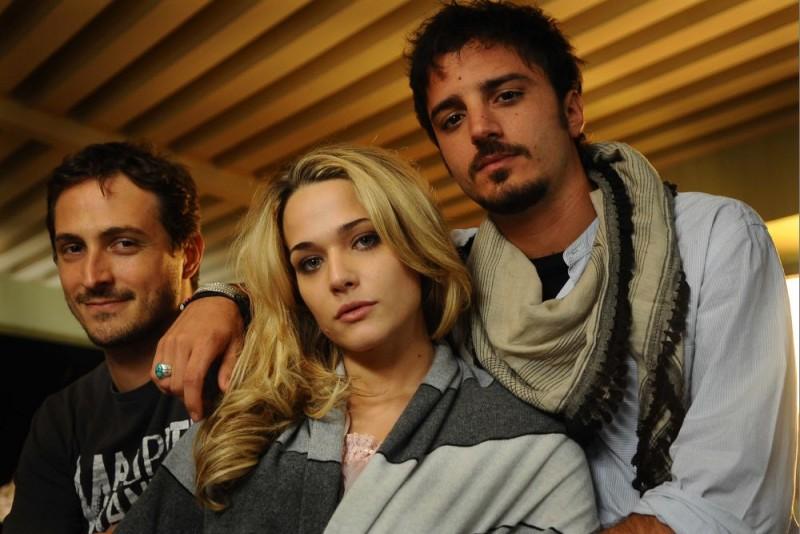 Il regista Volfango De Biasi, Laura Chiatti e Nicolas Vaporidis in una foto promozionale del film Iago