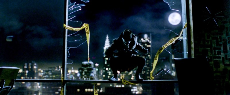 Jackie Earle Haley in una scena del film Watchmen