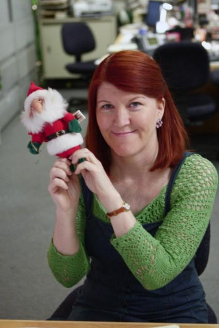Kate Flannery in una scena dell'episodio Moroccan Christmas di The Office
