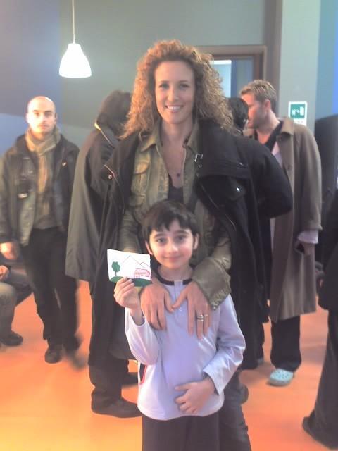 Leonardo Bertuccelli e Lucrezia Lante della Rovere sul set di Donna Detective 2