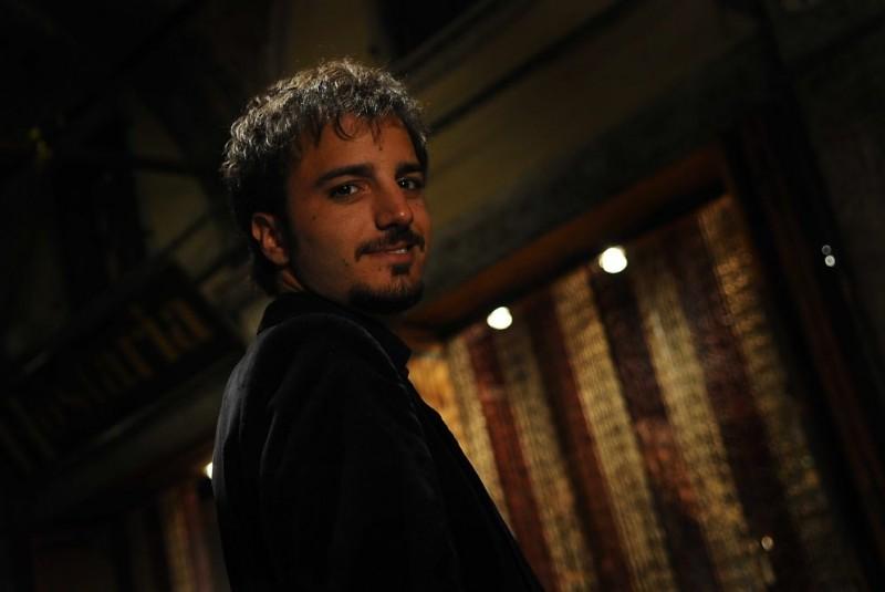 Nicolas Vaporidis sul set del film Iago