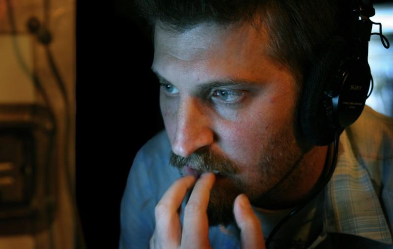Adrián Biniez sul set del suo film Gigante, in concorso a Berlino 2009