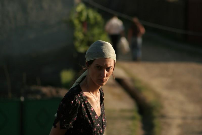 Hilda Péter in una scena del film Katalin Varga