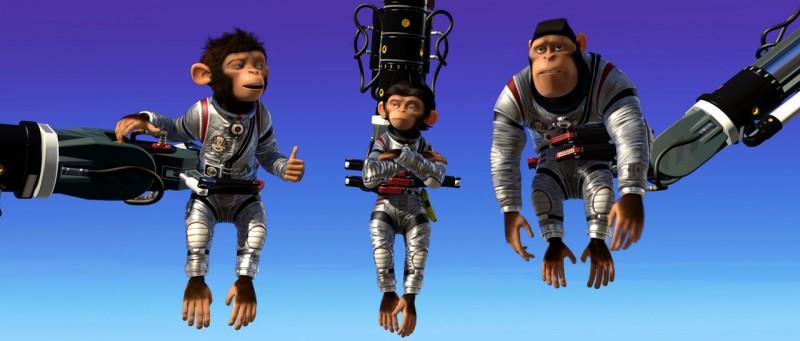 Le scimmiette protagoniste del film d'animazione Space Chimps
