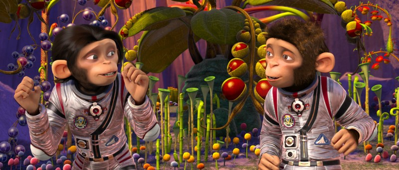 Le simpatiche scimmiette del film d'animazione Space Chimps