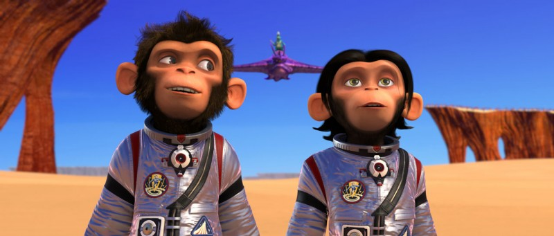 Le simpatiche scimmiette del film Space Chimps