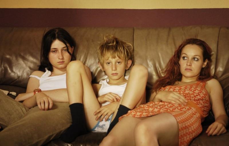 Madeleine Budd, Kacey Mottet Klein e Adelaide Leroux, in