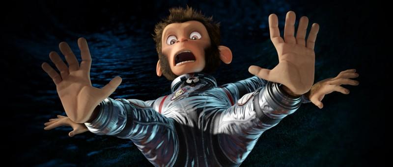 Un'immagine del nuovo film d'animazione Space Chimps