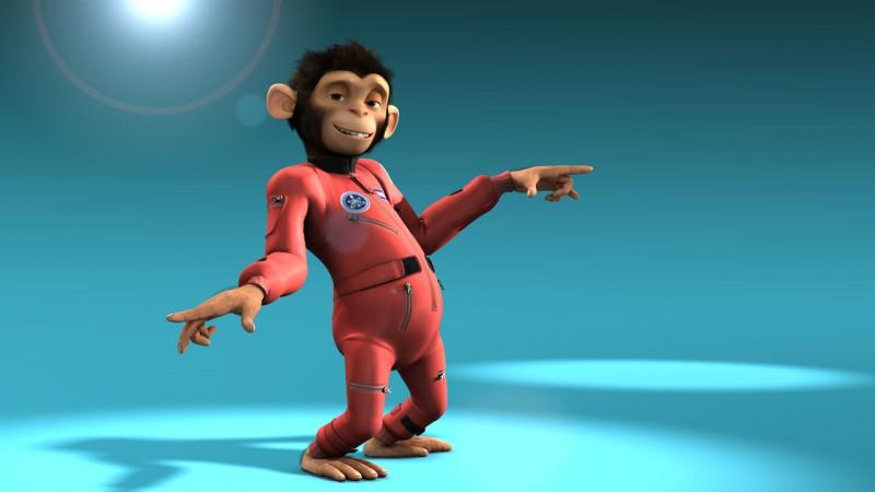 Un'immagine di Space Chimps