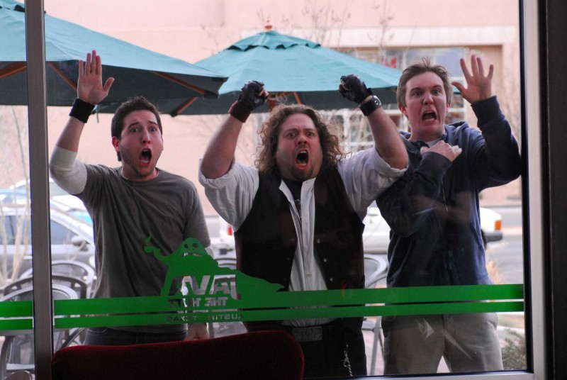 Chris Marquette, Dan Fogler e Sam Huntington in una scena del film Fanboys