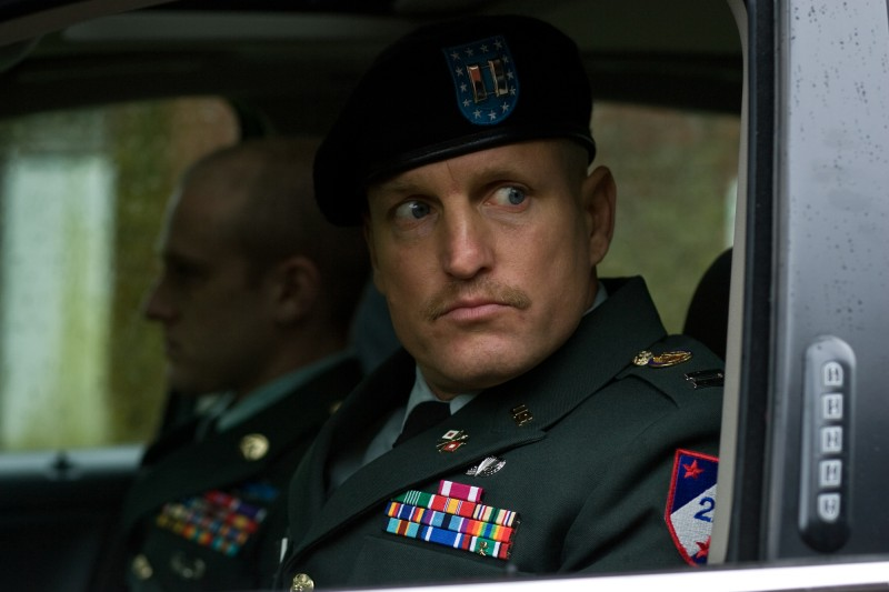 Woody Harrelson in una scena del film The Messenger