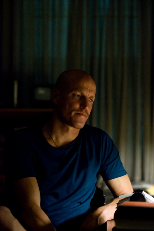 Woody Harrelson in una sequenza del film The Messenger