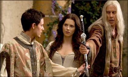 Bridget Regan e Bruce Spence in una scena dell'episodio Identity della serie tv Legend of the Seeker