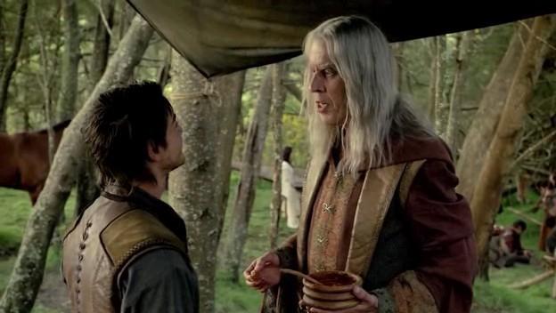 Bruce Spence e Craig Horner in una scena dell'episodio 'Brennidon' della prima stagione della serie tv 'Legend of the Seeker'