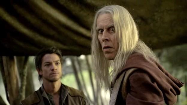 Craig Horner e Bruce Spence in una scena dell'episodio 'Brennidon' della prima stagione della serie tv 'Legend of the Seeker'