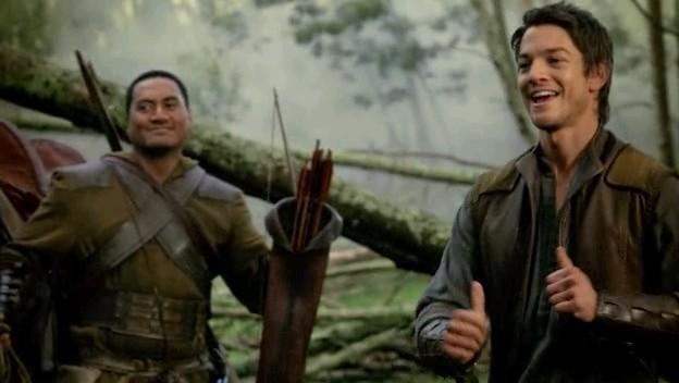 Craig Horner e Jay Laga'aia in una scena dell'episodio 'Brennidon' della prima stagione della serie tv 'Legend of the Seeker'