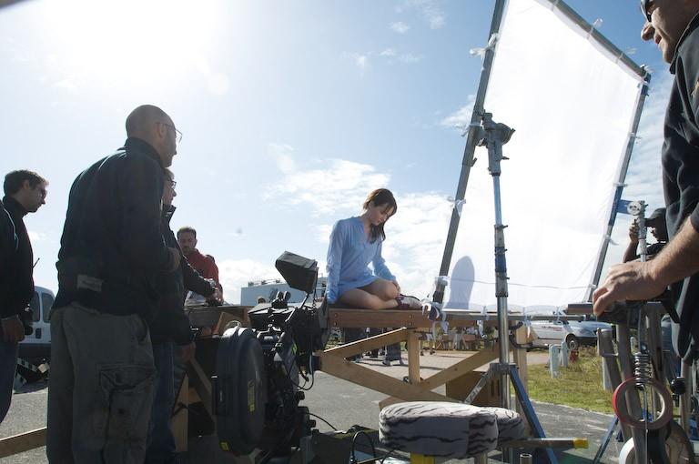 Cristiana Capotondi sul set del film Ex