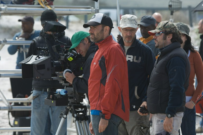 Il regista Fausto Brizzi sul set del film Ex