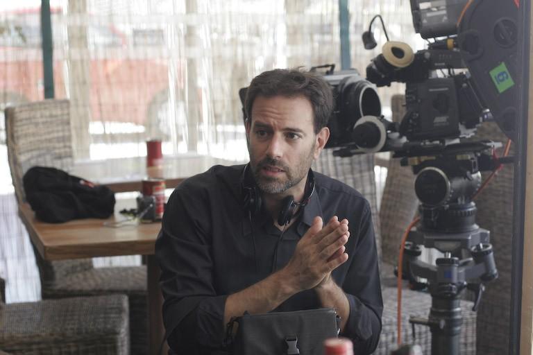 Il regista Fausto Brizzi sul set di Ex