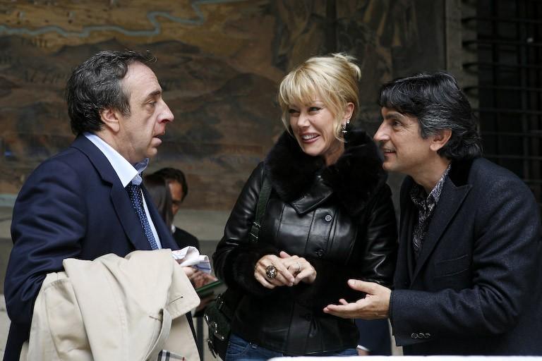 Silvio Orlando, Nancy Brilli e Vincenzo Salemme in un'immagine del film Ex