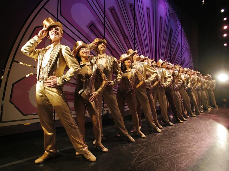 Una scena del documentario Every Little Step, incentrato sulla genesi e la realizzazione del musical A Chorus Line
