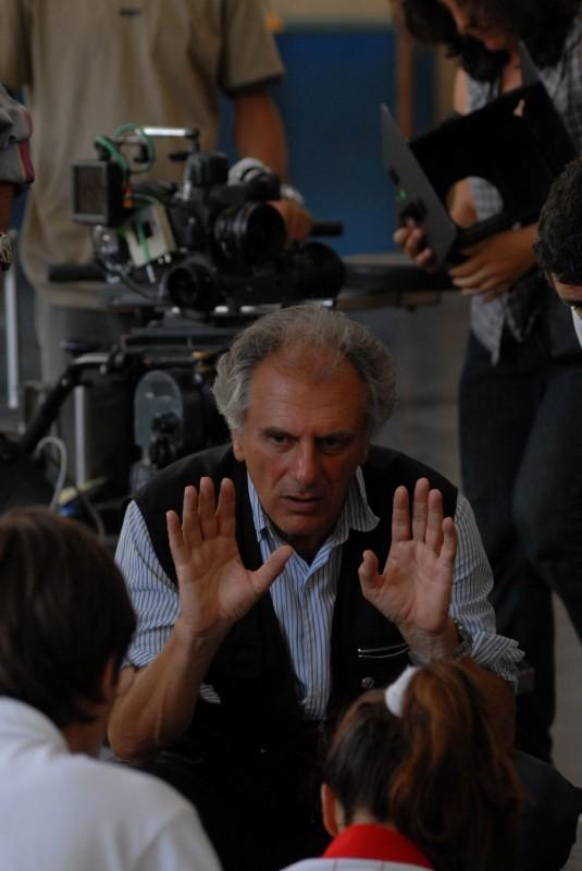 Il regista Marco Risi sul set del film Fortapàsc